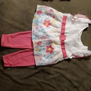 Baby Girls Flowered Tunic & Pants Set